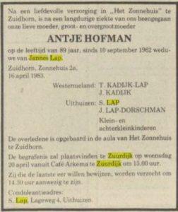C052 lap hofman overl