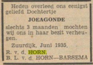 c034 horn joegonde overl 1935