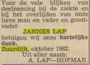 c052 lap jannes 1962 dank