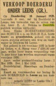 a073 1929 verkoop hekma vd steeg douwen