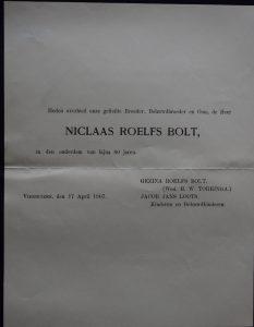 kerkhof graaf 1 zoon 1907 04 17 niklaas roelfs bolt rouwkaart.JPG